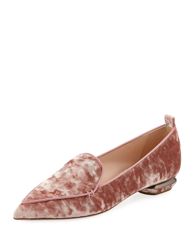 0c490763980 Lyst - Nicholas Kirkwood Beya 18mm Velvet Loafers in Pink