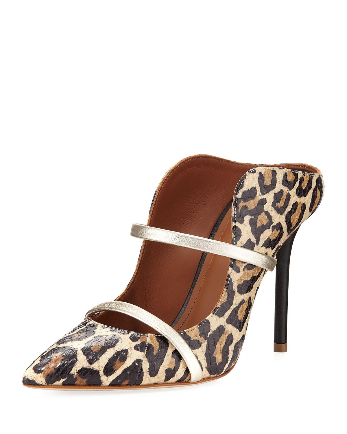 leopard print mules - Brown Malone Souliers ZUmYLw4s7N