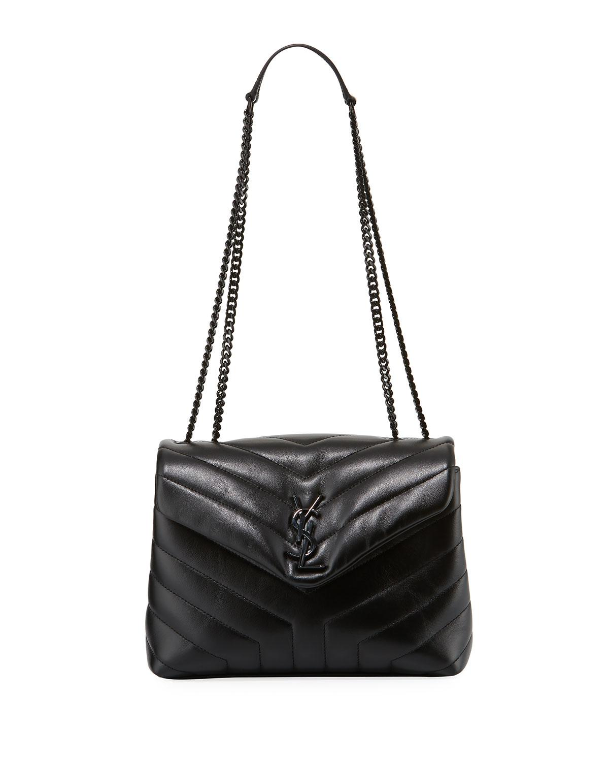 03f7a489d78 Lyst - Saint Laurent Monogram Ysl Loulou Small Chain Shoulder Bag in ...
