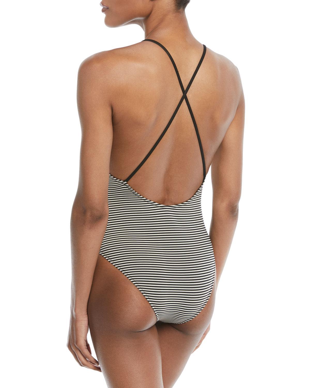 735548d75382 Lyst - Marysia Swim Harbour Island Striped One-piece Swimsuit in Black