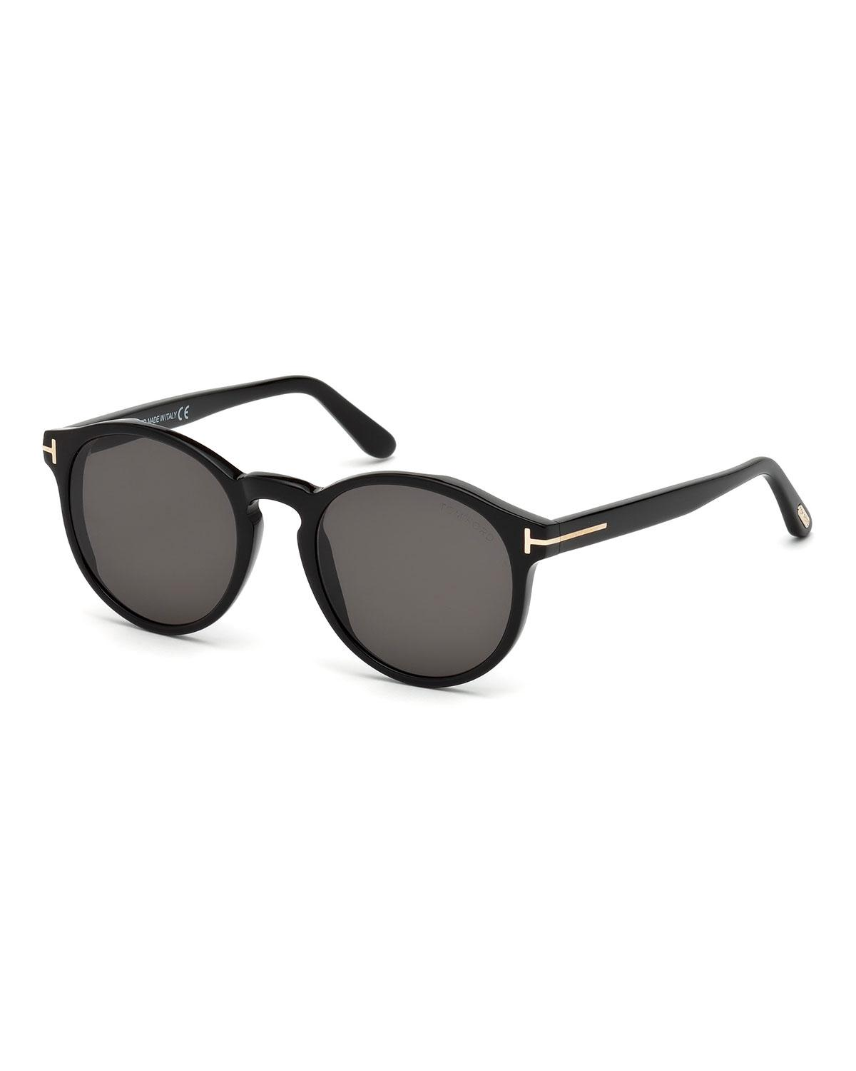 737c43b96ce Lyst - Tom Ford Ian Round Acetate Sunglasses in Black for Men