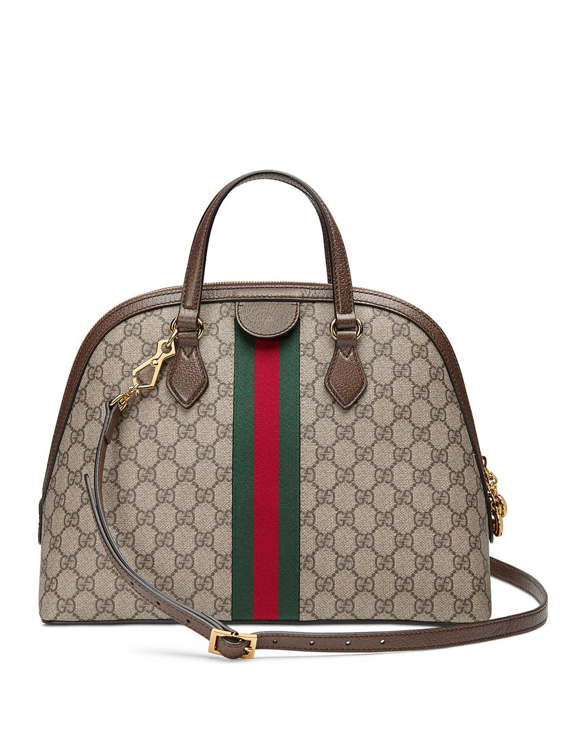 37ee53f906c Lyst - Gucci Ophidia GG Medium Top Handle Bag in Natural - Save 5%