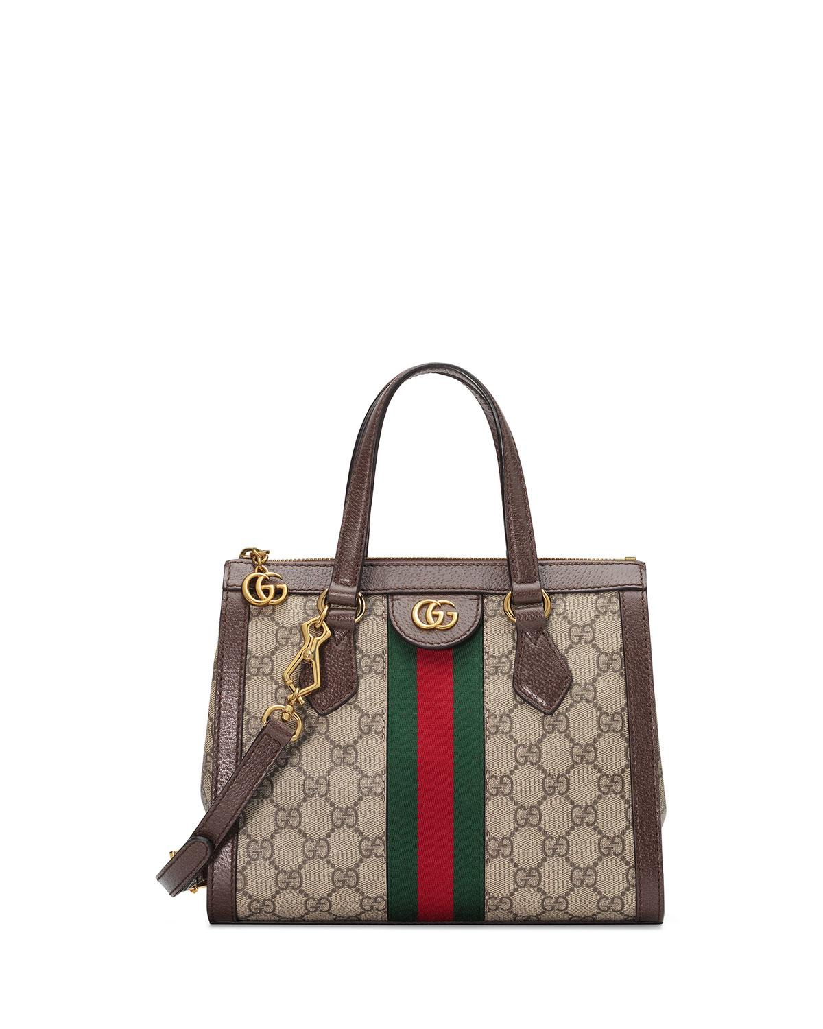 df5348a50b02 Gucci Ophidia Small GG Supreme Canvas Tote Bag in Natural - Save 17 ...