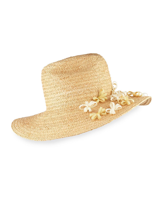 Trois Fringed Straw Hat YESTADT MILLINERY lwnVyl3