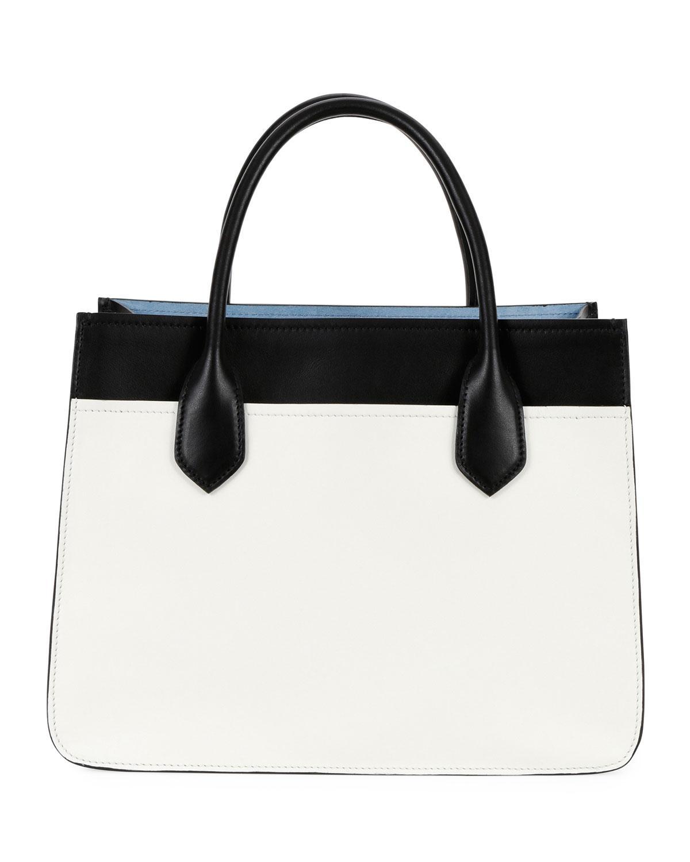 c233d30370f3 Lyst - Prada City Calf Etiquette Small Carryall Tote Bag in Black