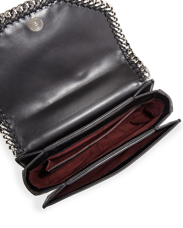 Lyst - Stella McCartney Falabella Box Bird Shoulder Bag in Black - Save 18% 8f0343c7ef14a