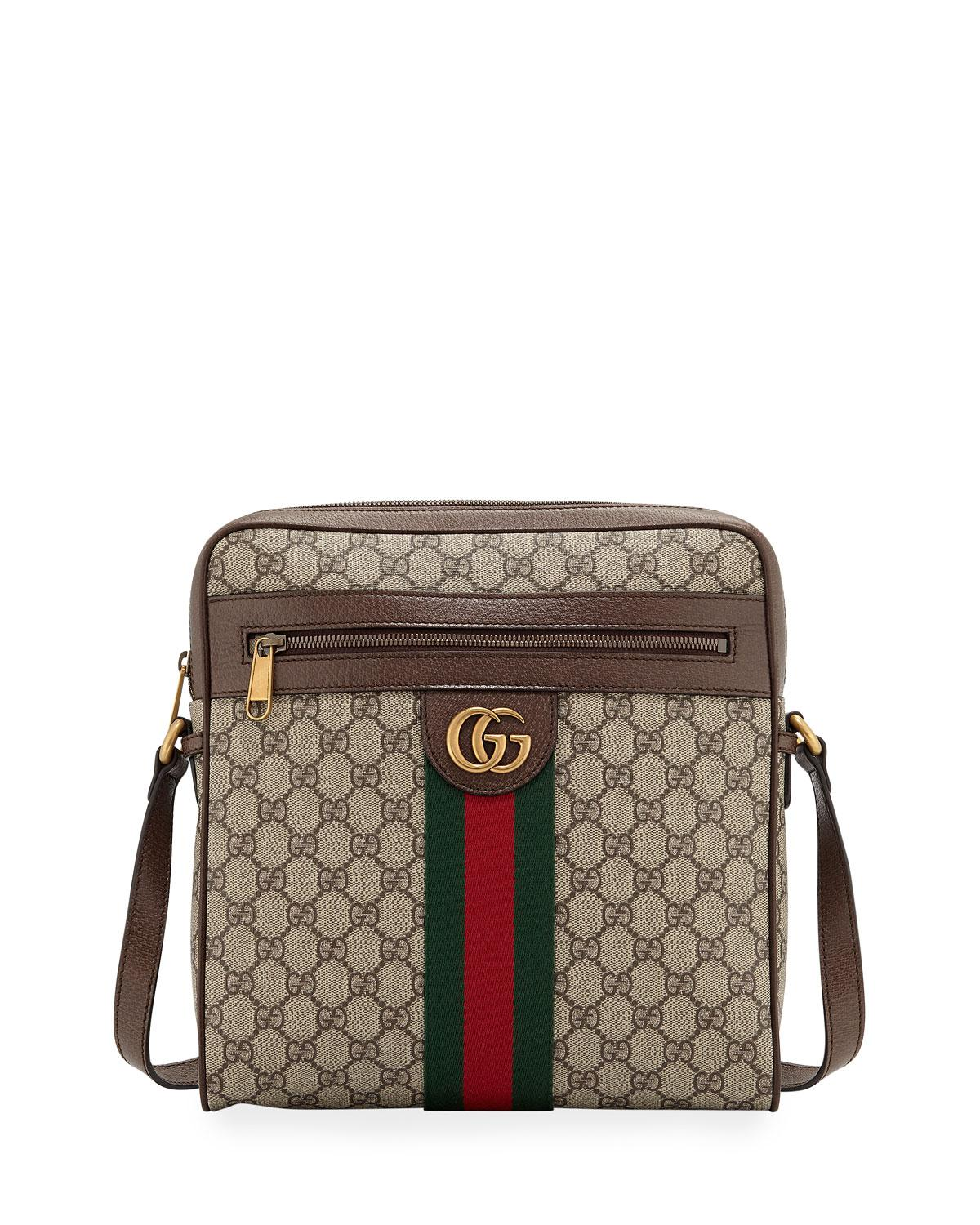 918261c41354 Gucci Ophidia GG Small Messenger Bag in Natural for Men - Lyst