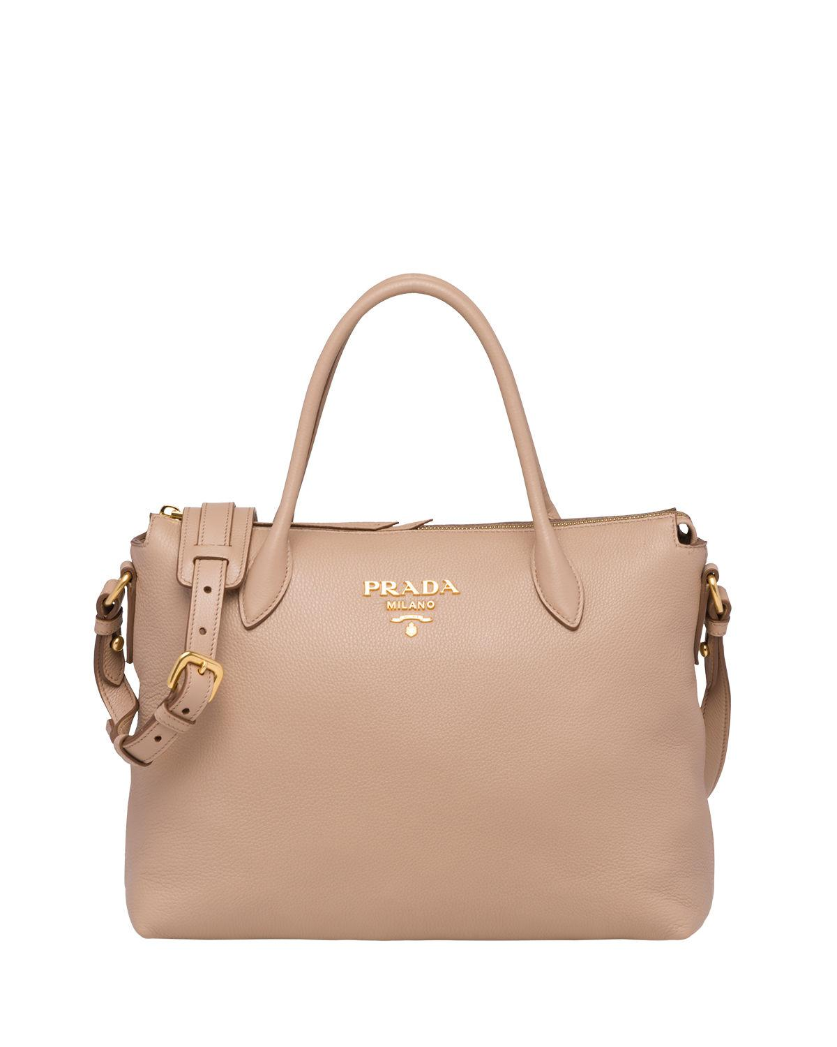 c57abcc9adfb Prada. Women's Daino Medium Leather Tote Bag
