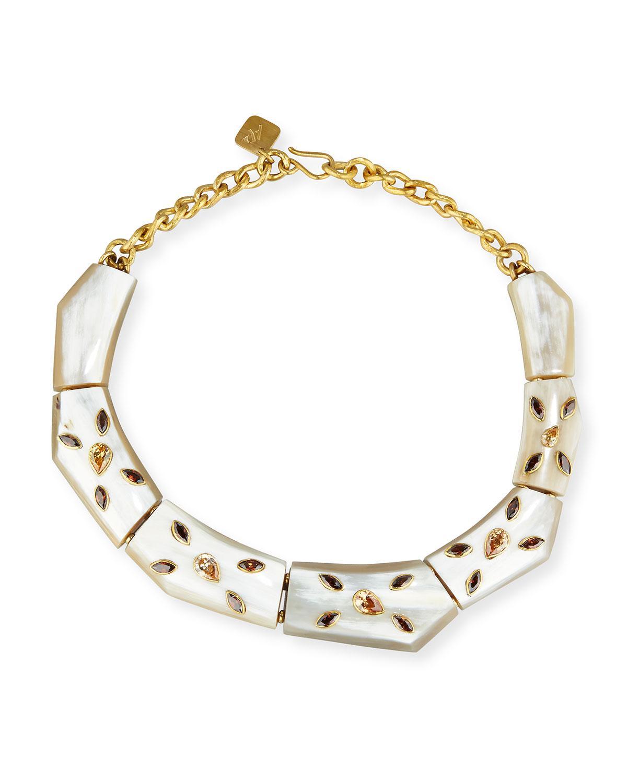 Ashley Pittman Karamu Chunky Collar Necklace edxQBbDh0V