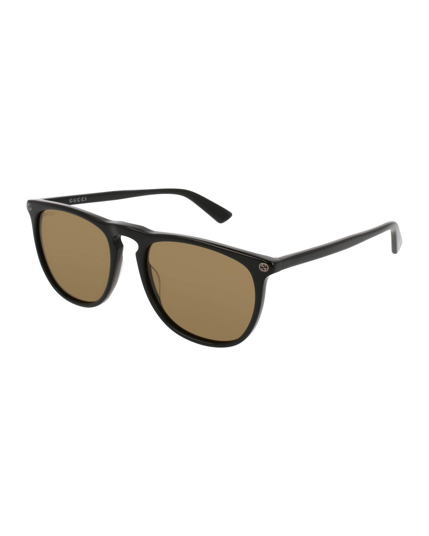 6a5aeeeb71e Lyst - Gucci Acetate Pantos Sunglasses in Black