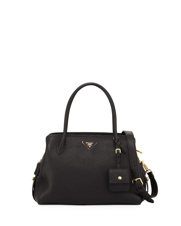 ... free shipping lyst prada medium vitello daino top handle bag in black  8e1ba 80c22 049455d7bd
