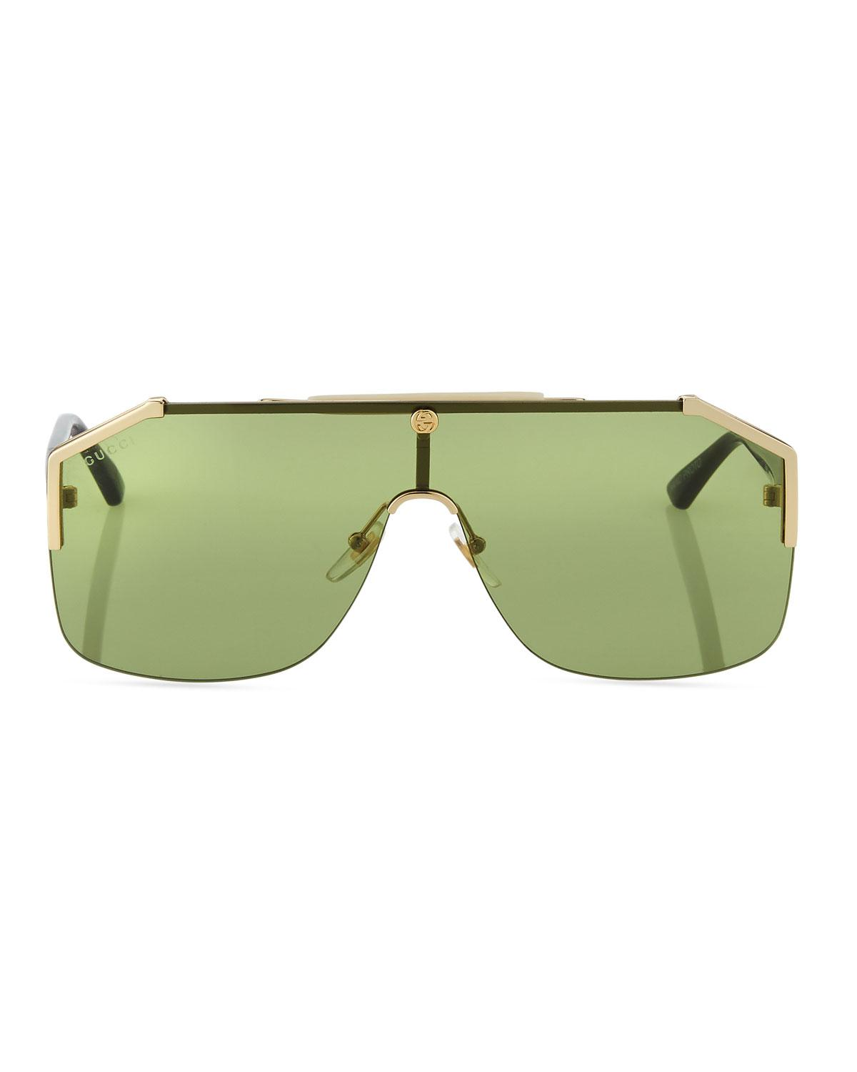 4b6dfe7dbb5 Lyst - Gucci Geometric Metal Shield Sunglasses for Men