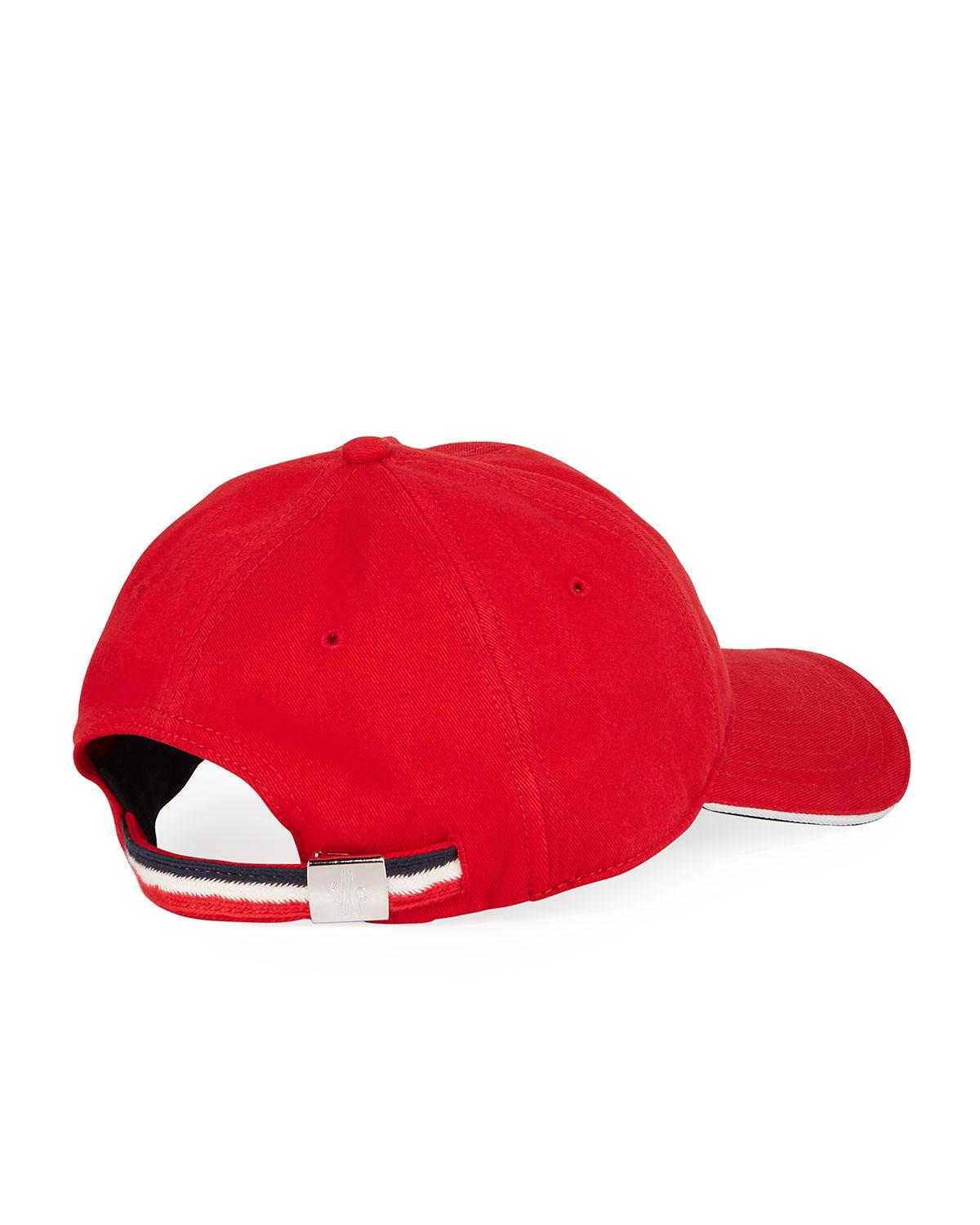 73a76a82953 Lyst - Moncler Men s Small-logo Baseball Cap in Red for Men