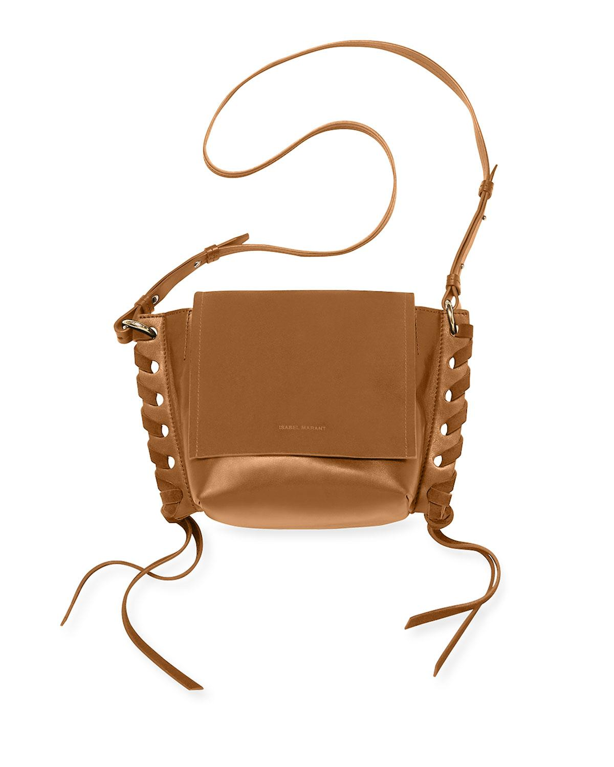 9a876faab1 Isabel Marant - Brown Kleny Suede And Leather Crossbody Bag - Lyst. View  fullscreen