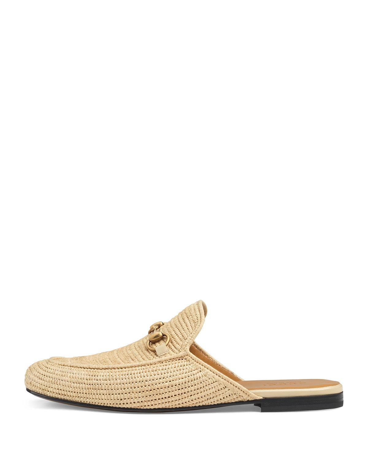 3eec8fab9f0a Lyst - Gucci Straw Princetown Slipper in Natural for Men - Save 60%