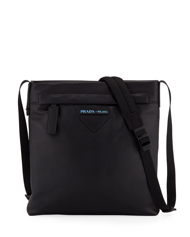 Prada Men s Large Smooth Leather Crossbody Bag in Black for Men - Lyst 151d45fc05d58