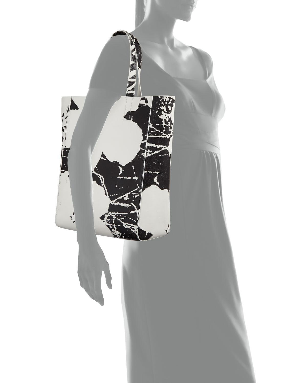 fdf6c844b CALVIN KLEIN 205W39NYC Andy Warhol Flower Soft Tote Bag in Black - Lyst