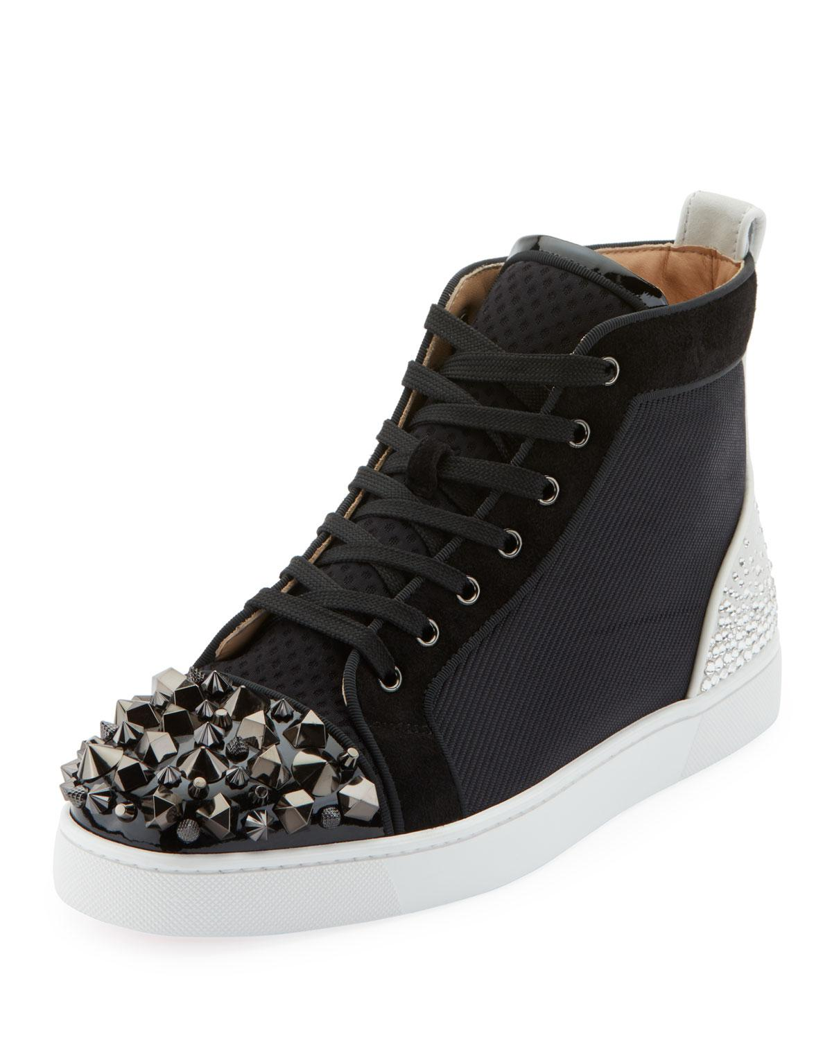 2d6ff475b59 Christian Louboutin Men s Mixed-media Spike Mid-top Sneakers in ...