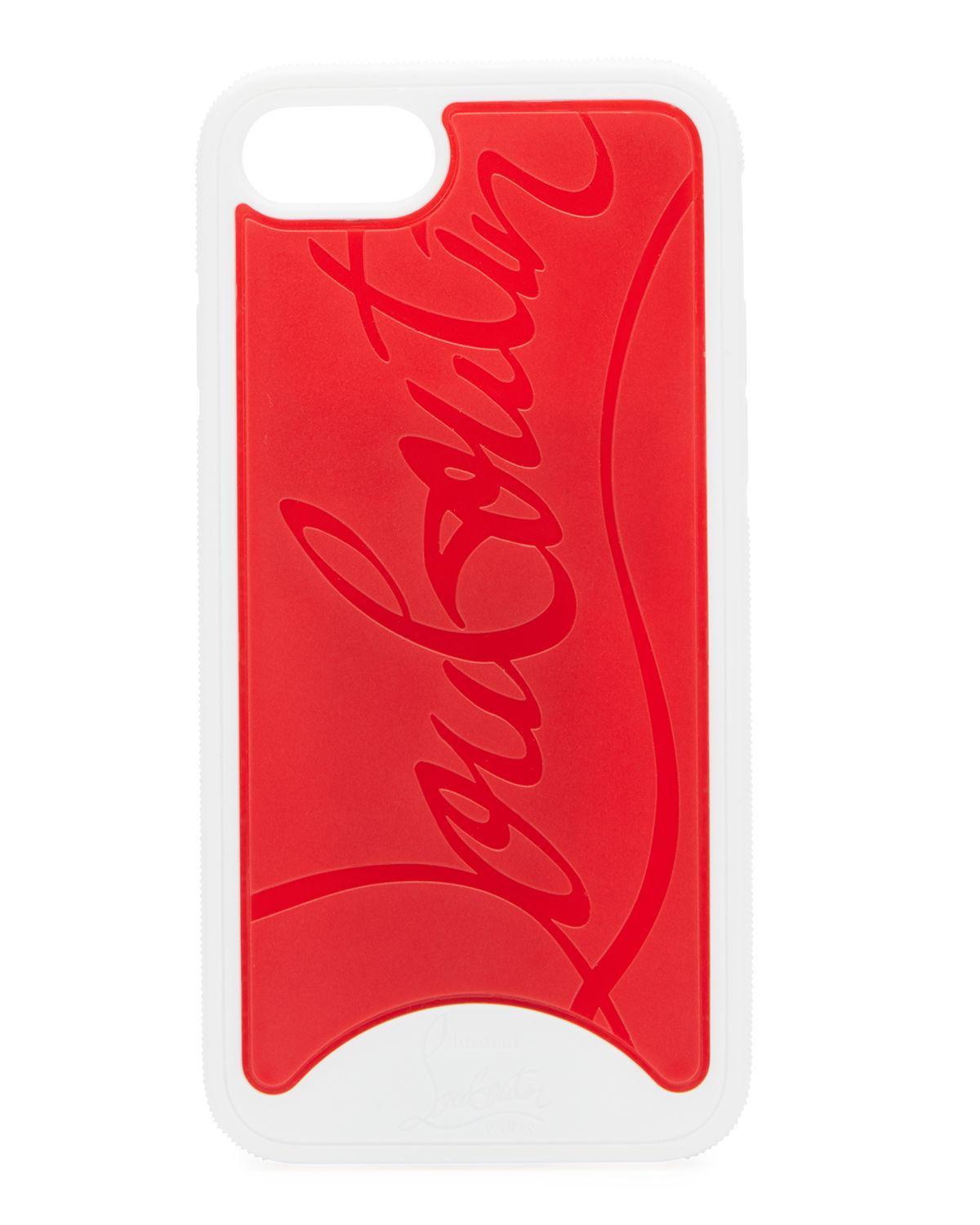 d08ae2abee3 Christian Louboutin. Women s White Embossed Logo Loubiphone Case For Iphone®  8