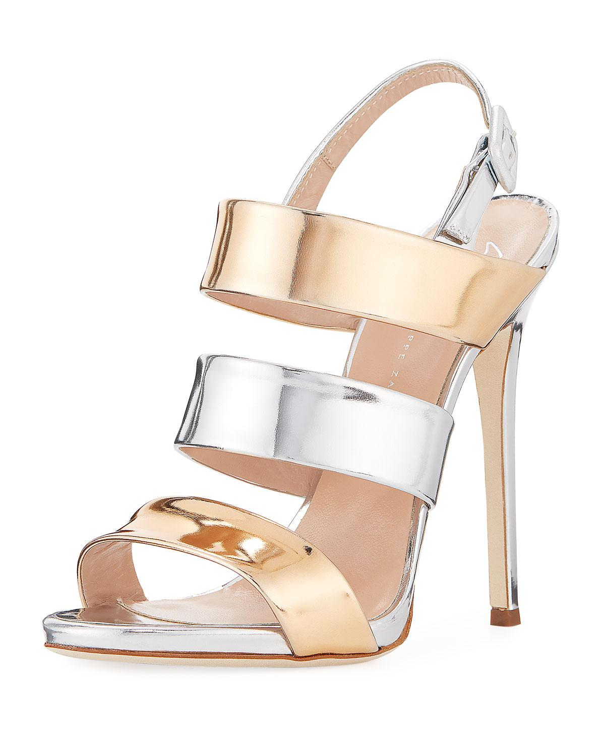 8173ebc5f Giuseppe Zanotti. Women s Two-tone Metallic 120mm Sandal