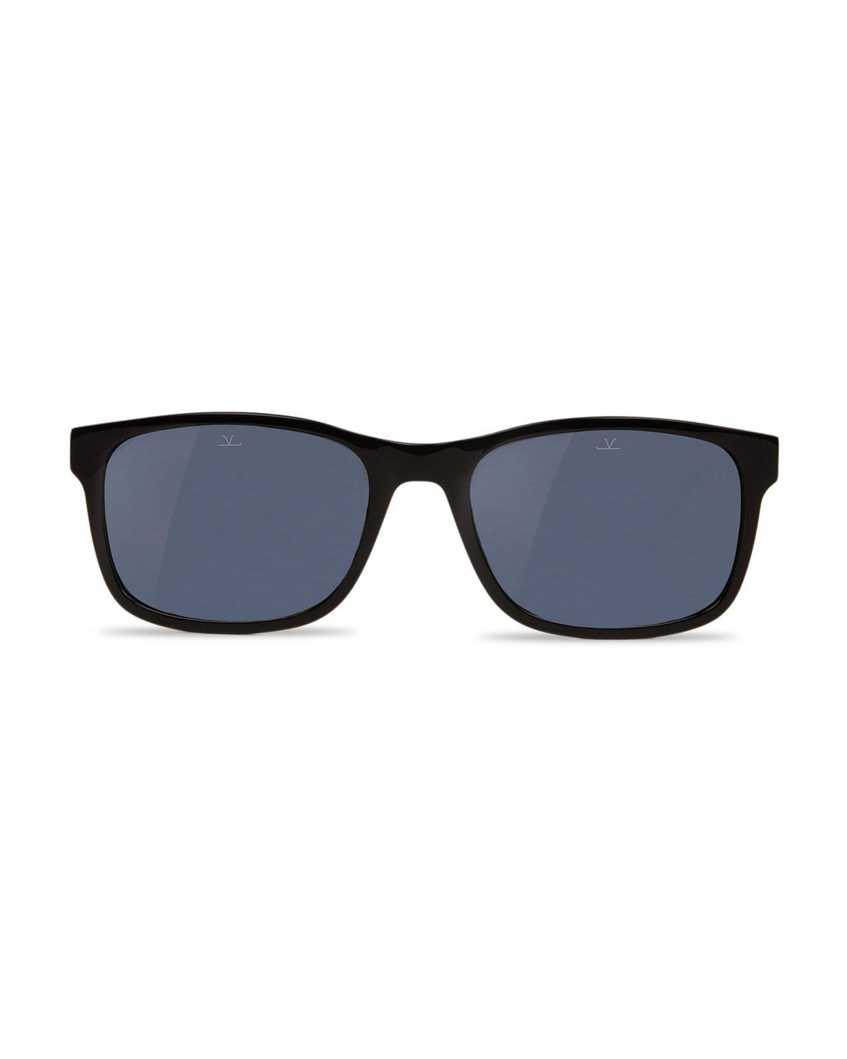 0fdf7cb9774 Lyst - Vuarnet District Medium Rectangular Sunglasses in Black for Men