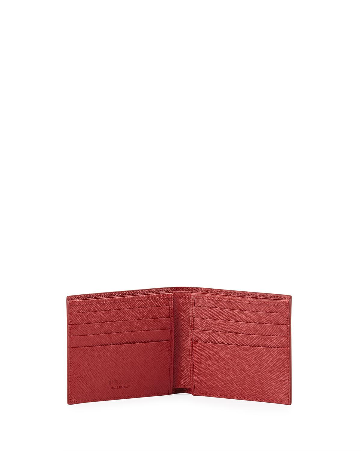 75fecea6f60b Lyst - Prada Stamped Classic Wallet in Red for Men