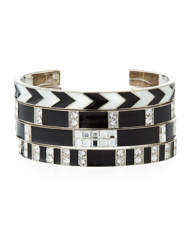 dbcce37f49b Lyst - Saint Laurent Smoking Grommet Bracelets in Black