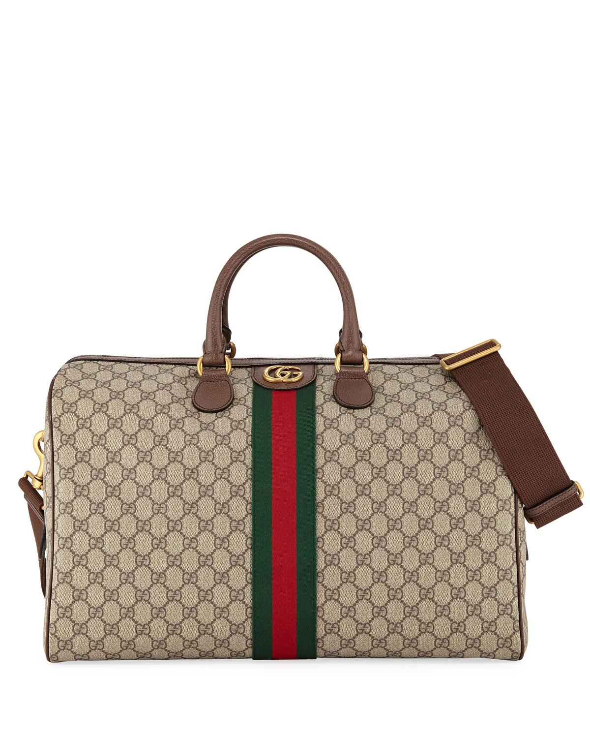 67fdb3a62f96 Lyst - Gucci Men s Soft GG Supreme Carry-on Duffel Bag in Natural ...