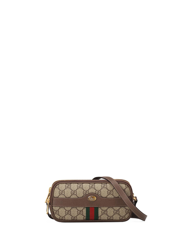 d482156f44f Lyst - Gucci Ophidia Mini GG Supreme Crossbody Bag in Natural