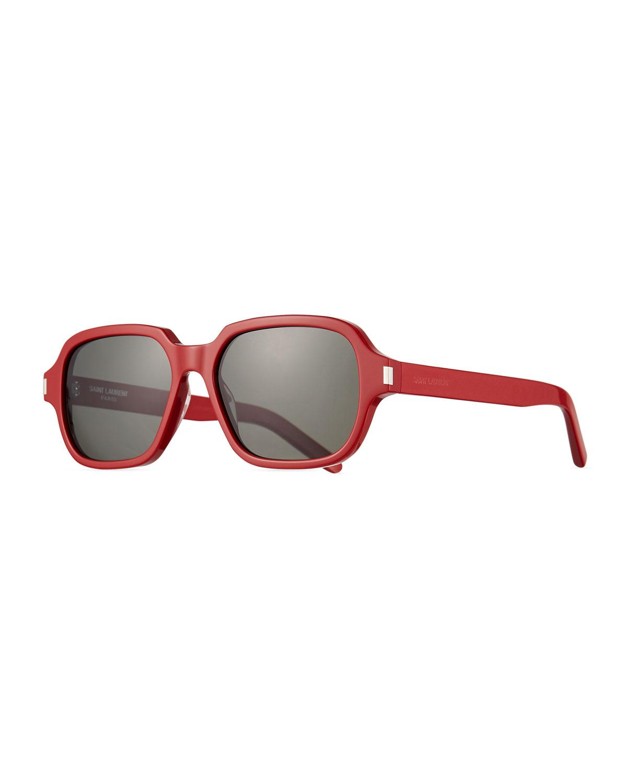 5404b8be24a Lyst - Saint Laurent Men s Sl 292 Rectangle Acetate Sunglasses in ...