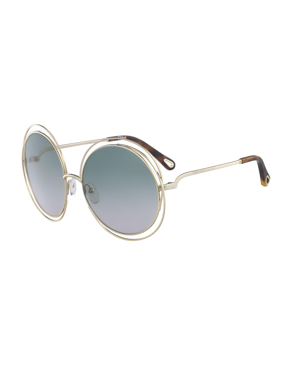 Metal Sunglasses Carlina Metallic Lyst Wire Save Round In Chloé IxqH6