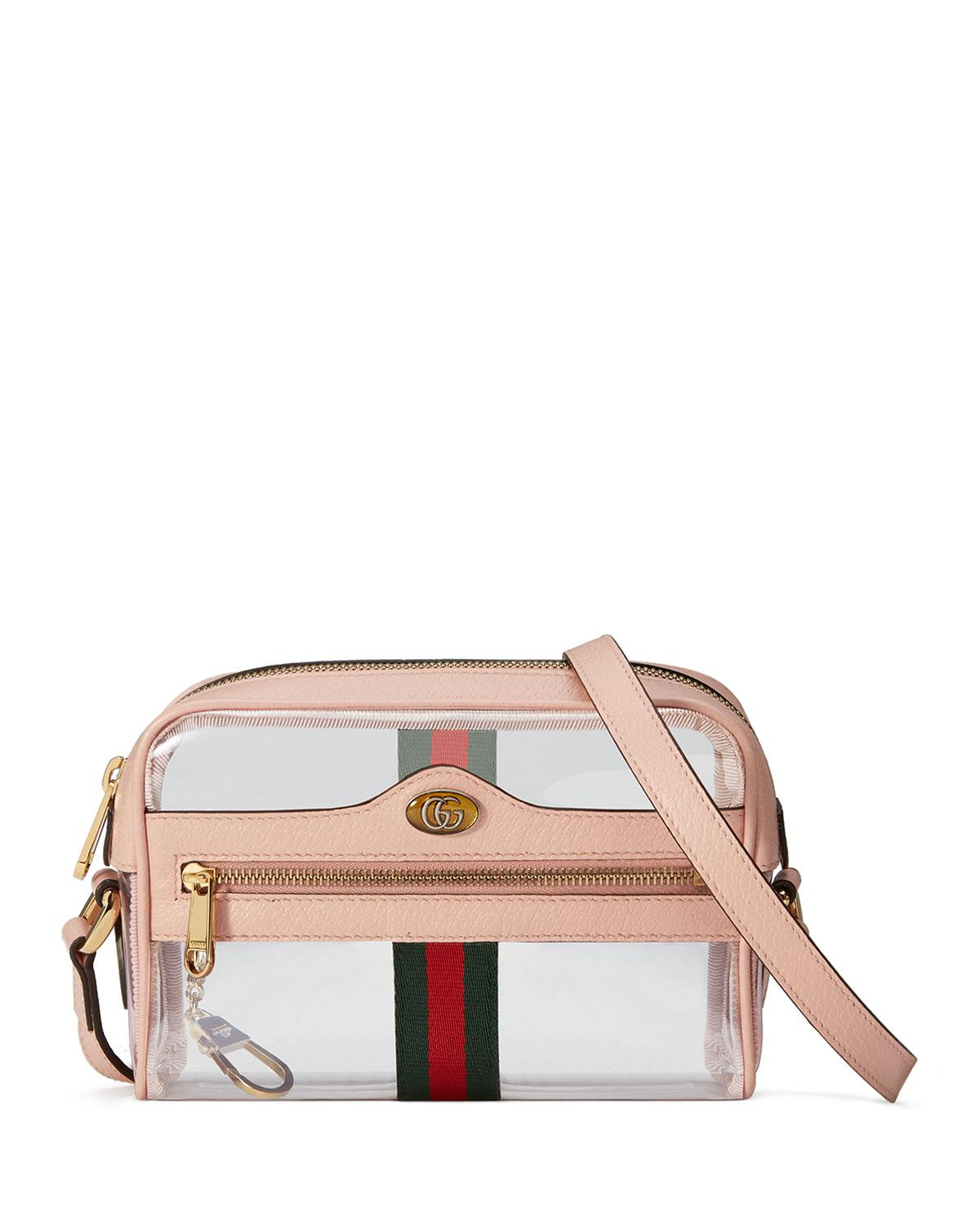 d8b2d7d497fc Gucci Ophidia Mini Transparent Bag in Pink - Lyst
