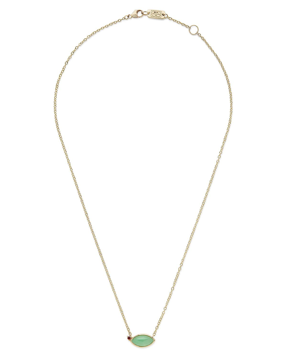 Ippolita Prisma Five-Stone Smile Bar Necklace in Portofino XH5yhU0w