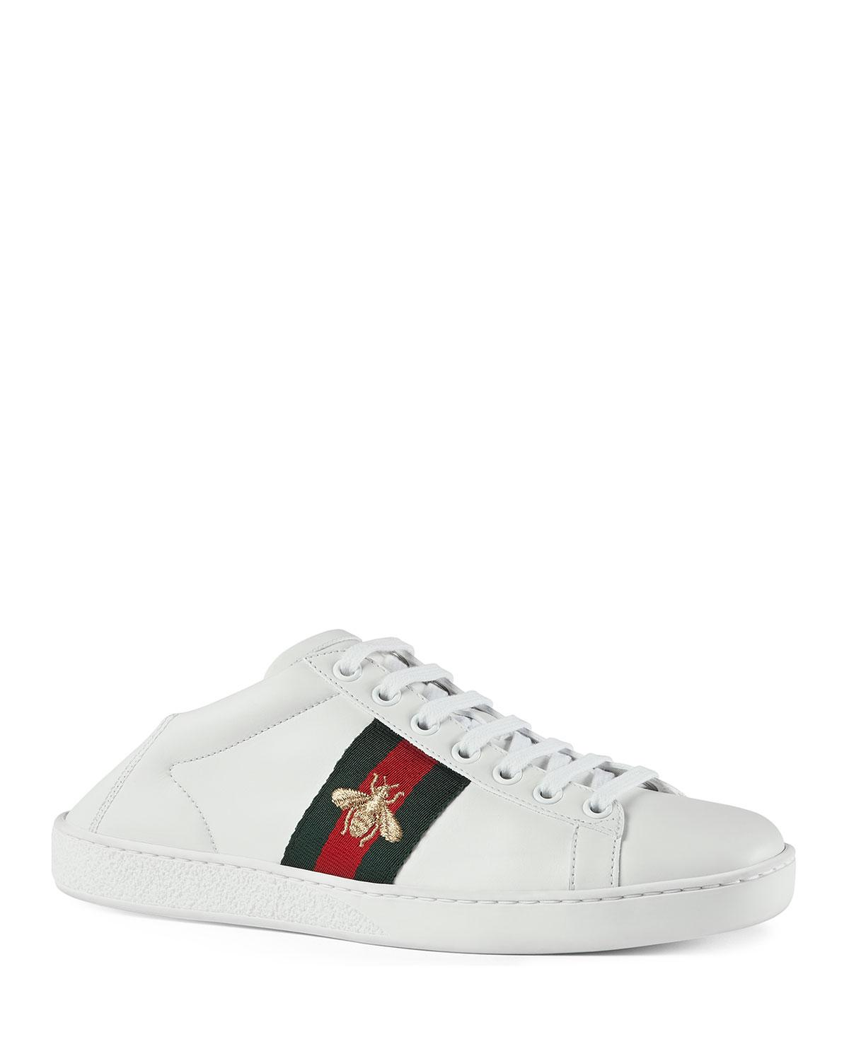 fdb5bfe266b Lyst - Gucci Bee Web Sneakers in White