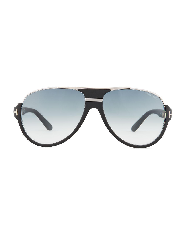 ed3fd311d3500 Tom Ford Dimitry Half-rim Aviator Sunglasses for Men - Lyst