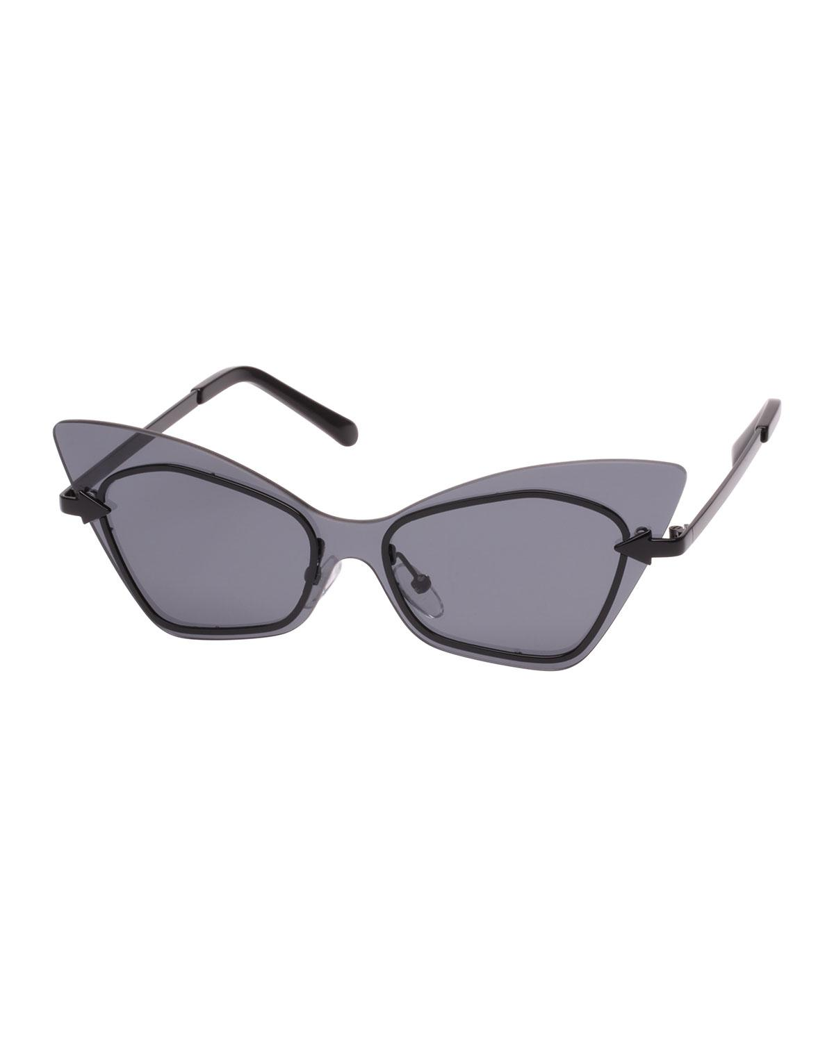 8e28259689c4 Karen Walker. Women s Mrs. Brill Cat-eye Semi-rimless Sunglasses