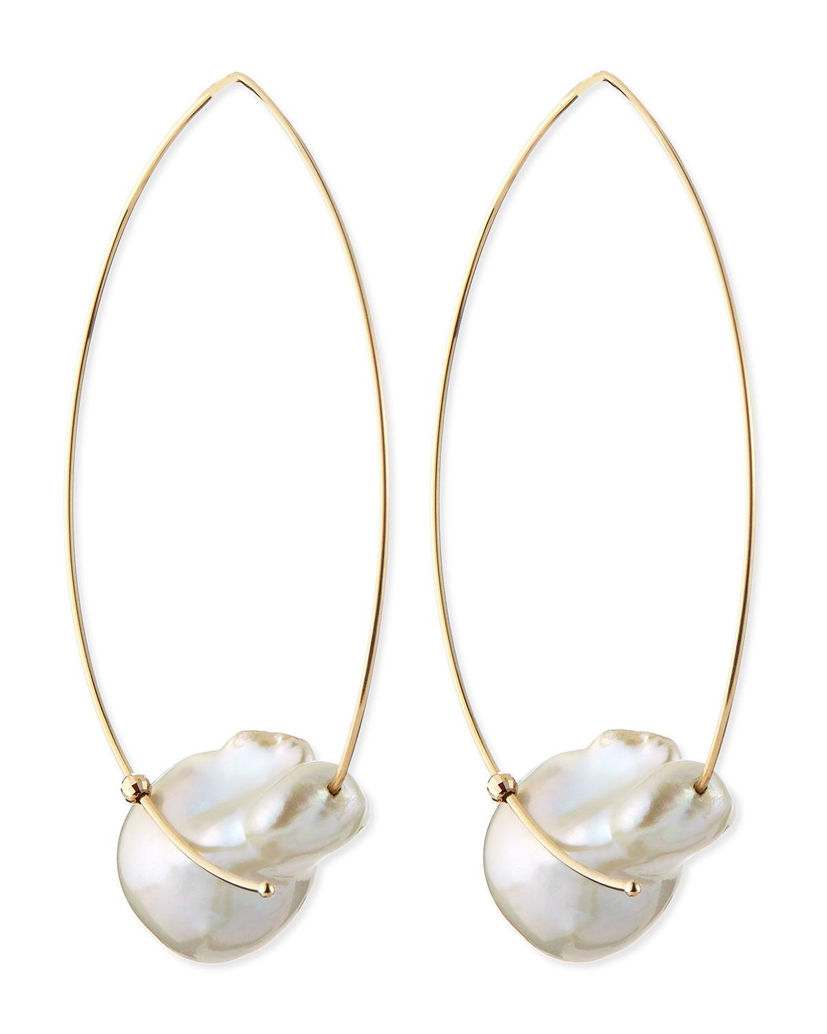 Mizuki 14k Gold Freshwater Pearl Earrings scwYdFZ