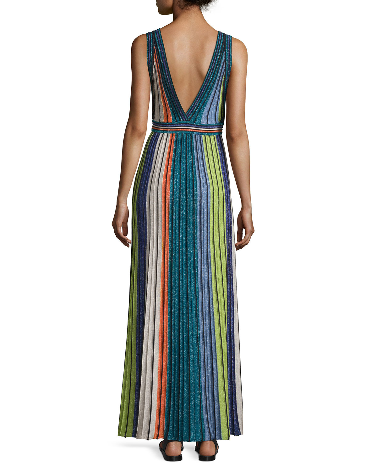 Clearance 2018 Womens Metallic Striped Maxi Dress Missoni Free Shipping Find Great Free Shipping Shopping Online In China For Sale Really Cheap Shoes Online 2zQW9rCzu