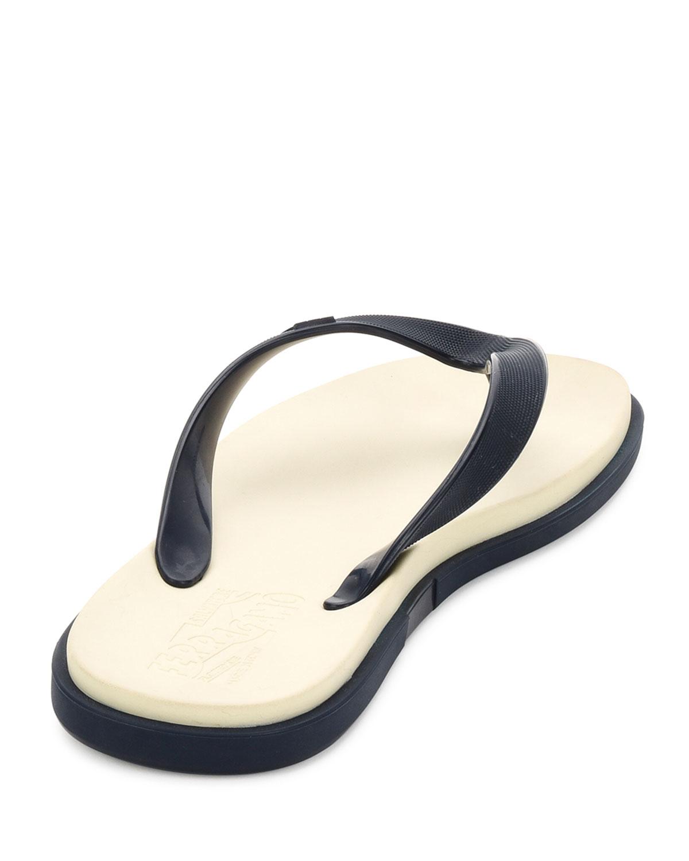 703d2263a2a7 Lyst - Ferragamo Guinea Gancino Flip-flop Sandal in White for Men