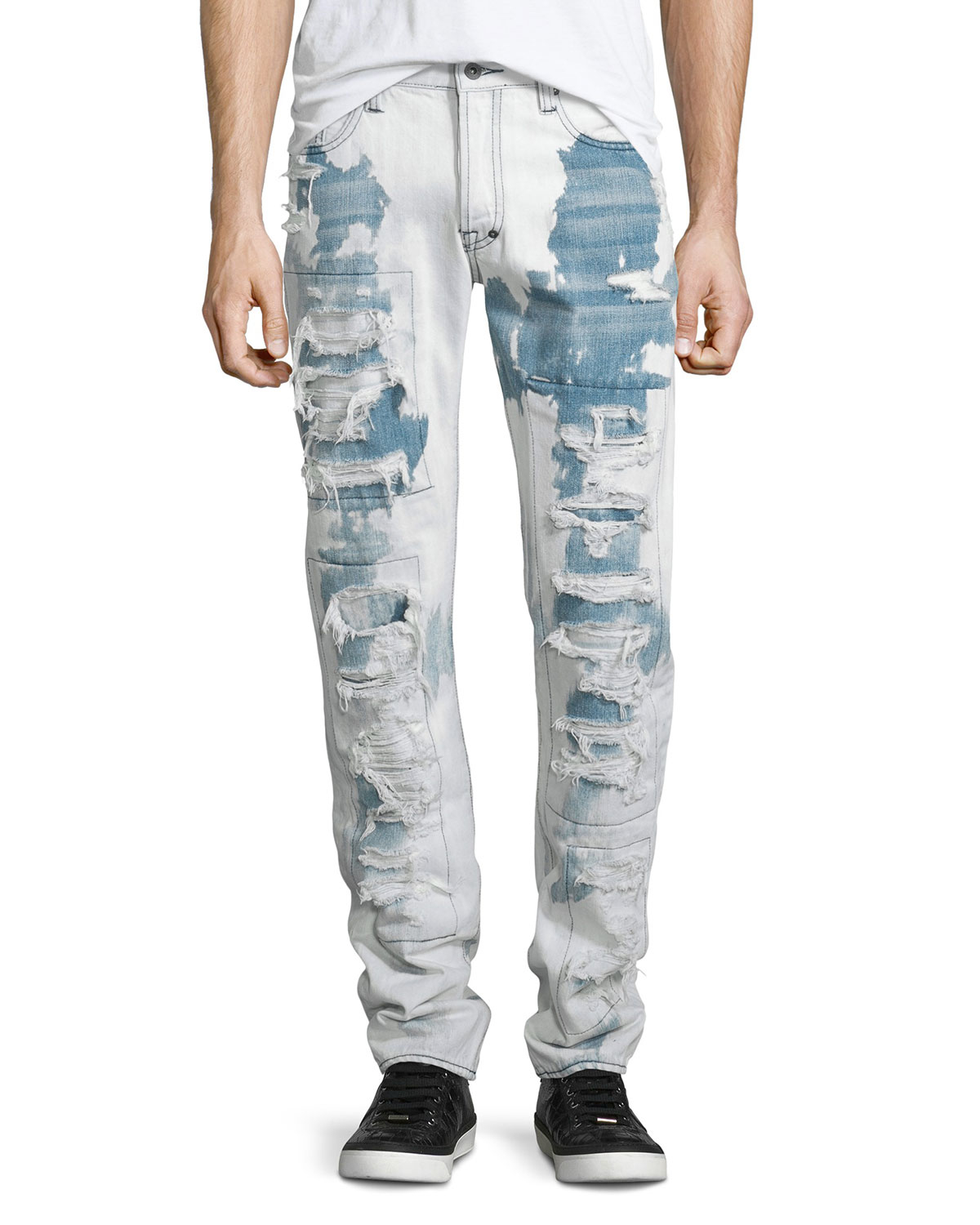 Bleached Jeans Decide on the right wash and pattern for your bleached jeans to find the look you love. Whether drawn to the big tie-dye pattern or the side-seam .