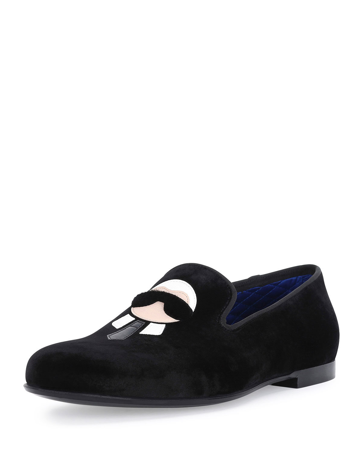 Fendi Karlito Formal Evening Slipper In Black For Men Lyst