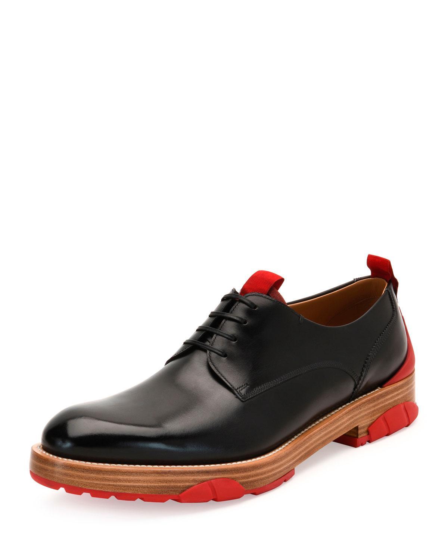 Ferragamo Fulgor Runway Calfskin Lace Up Derby Shoe With