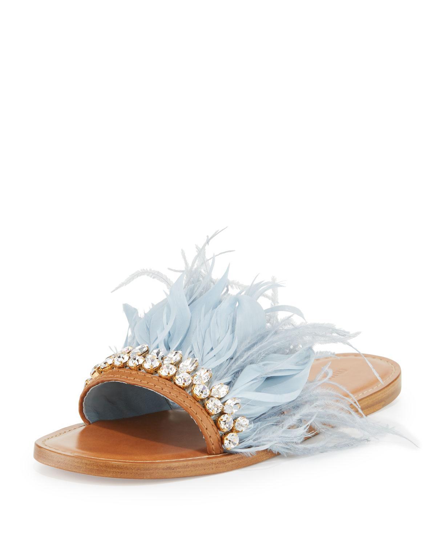 Miu Miu Embellished flat sandals m690OD3
