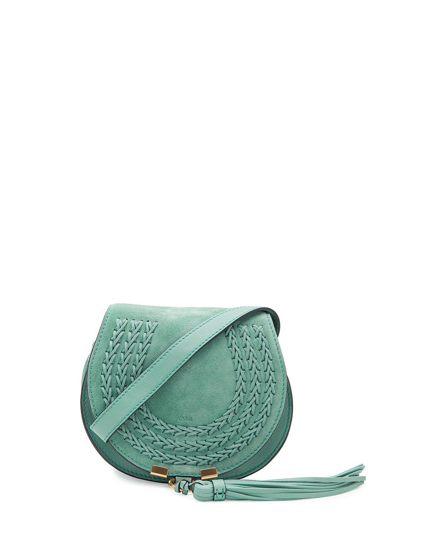 e64f522e63 Chloé Marcie Mini Suede Crossbody Bag in Green - Lyst