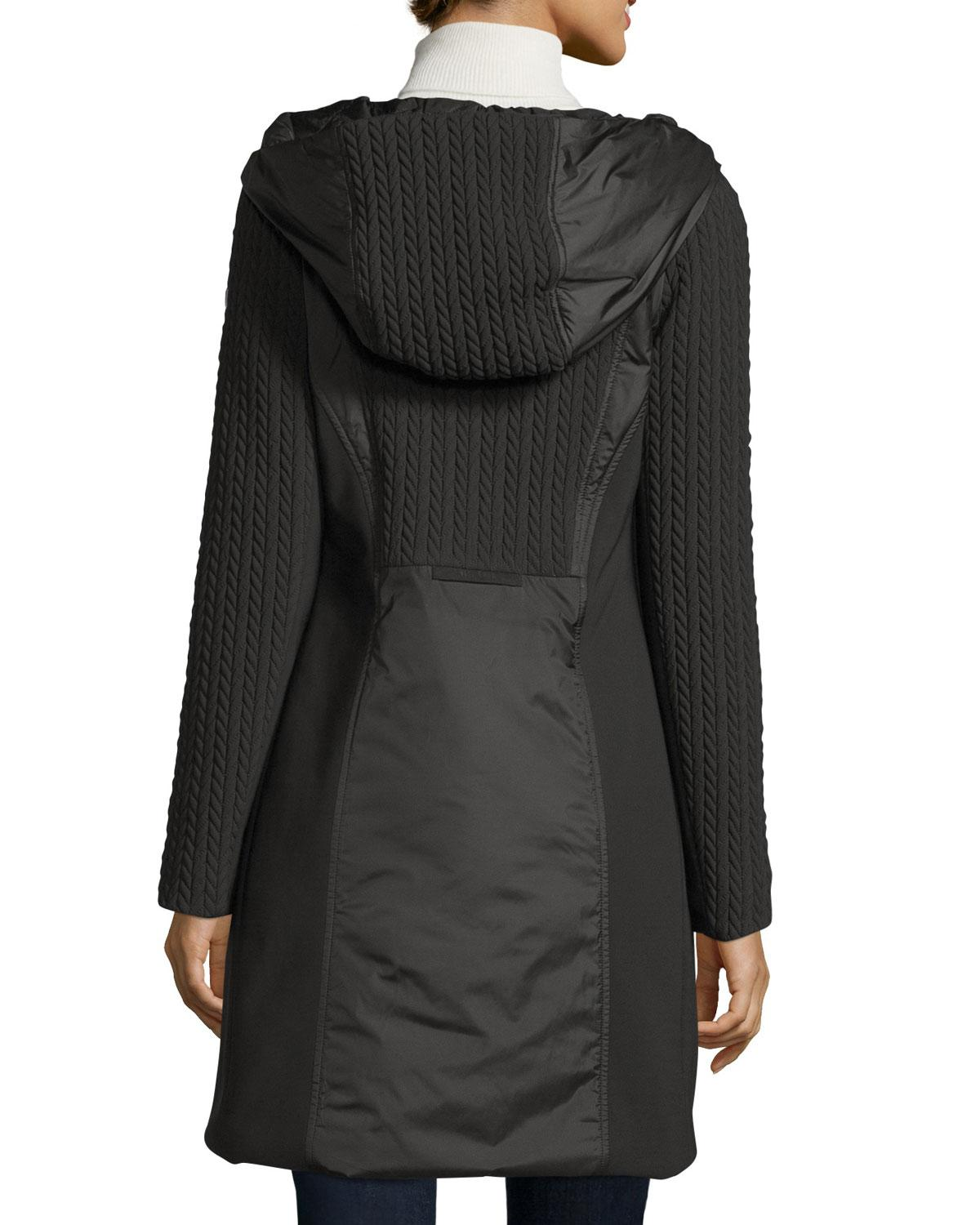 Post Card Quilted 3 Layer Hooded Parka In Black Lyst