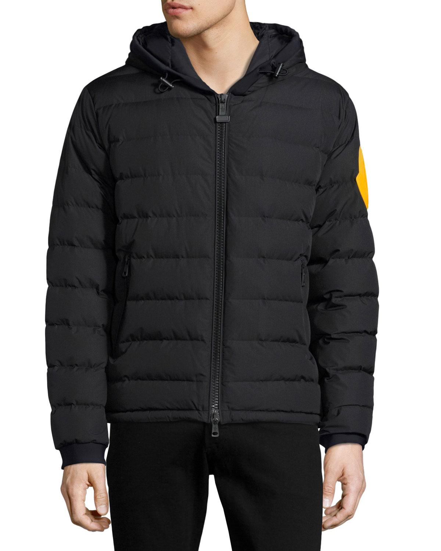 Moncler Dinard Hooded Puffer Jacket in Black for Men