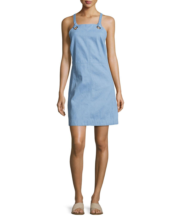Blue apron dress - Rag Bone Women S Blue Suffolk Denim Apron Dress