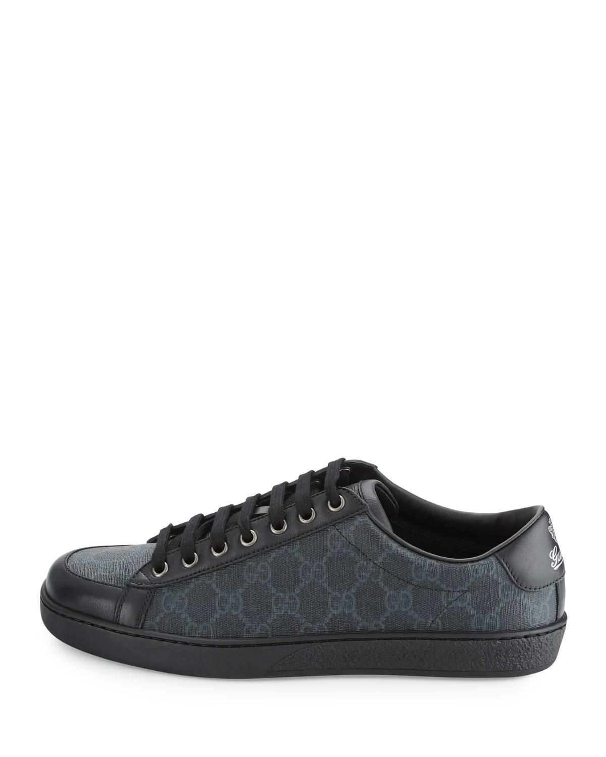 af9e309b057 Lyst - Gucci Brooklyn Gg Supreme Fabric Lace-up Sneaker in Black for Men