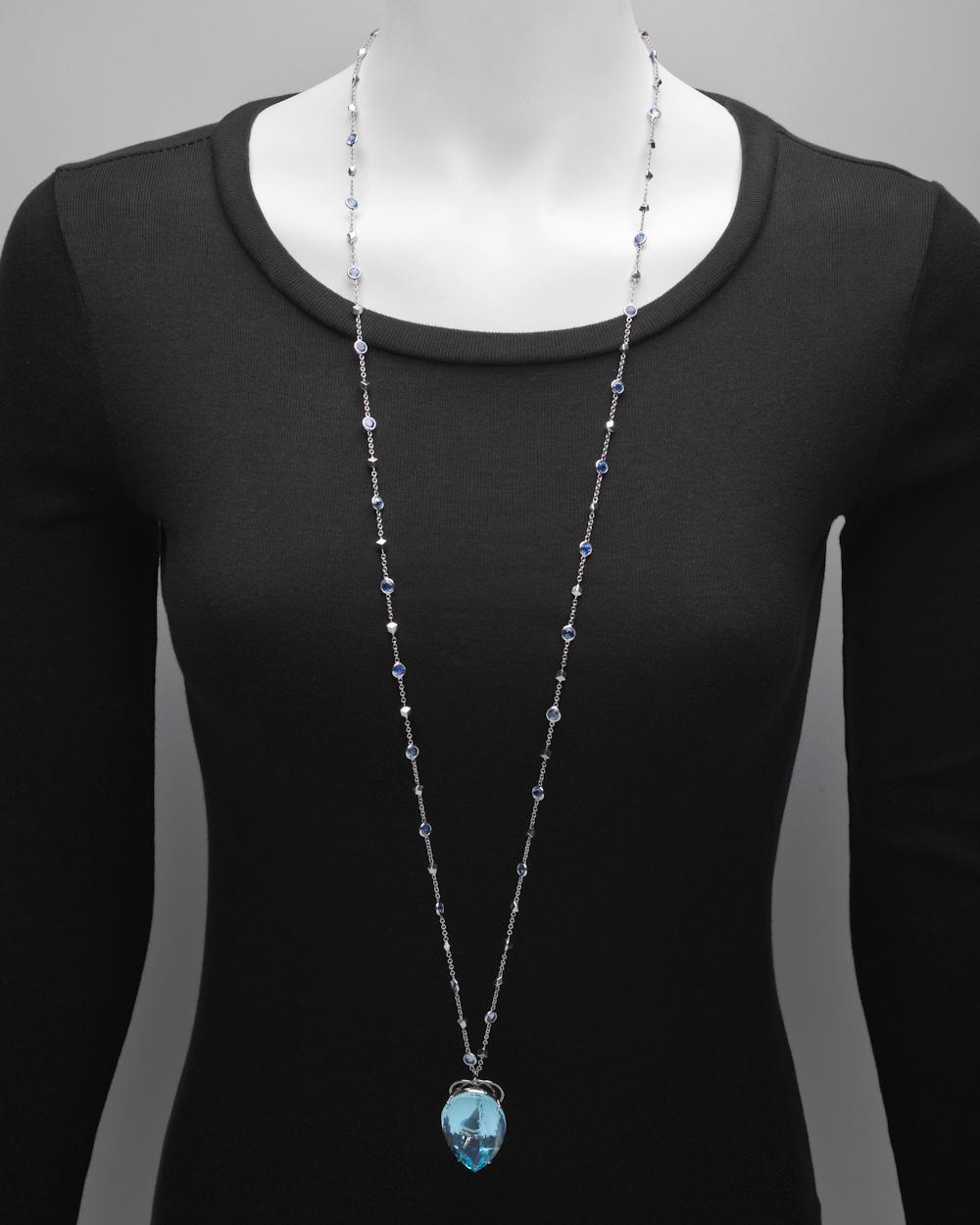 Lyst paolo costagli large aquamarine pendant on gem set brillante gallery aloadofball Images