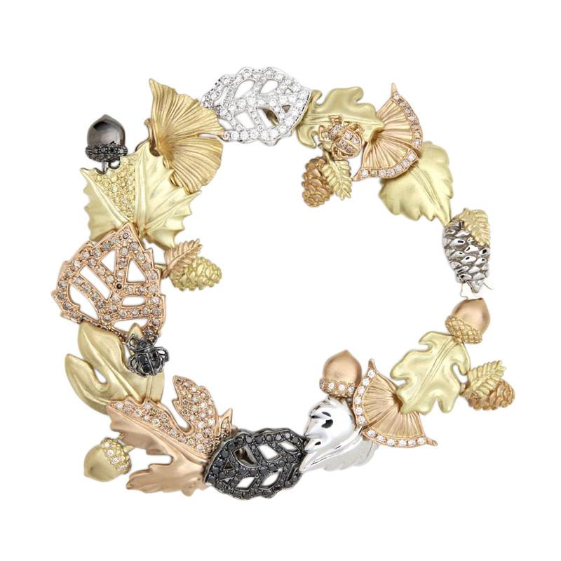 Amazona Secrets 18kt Gold Savannah Leaf Bracelet xtKt1FVFK